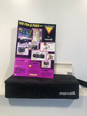 New VTG Maxell 15 Cassette Organizer From 1991 Made In USA W/ Advertising
