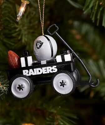Oakland Raiders NFL Wagon Christmas Tree Ornament Football Team Fan Gift Decor
