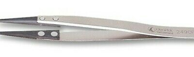 Tweezer, Precision, 130 mm, Stainless Steel Body, Carbon Fibre Tip