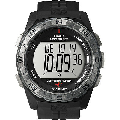 "Timex T49851, Men's ""Expedition Vibrating Alarm"" Indiglo Watch, Chronograph"