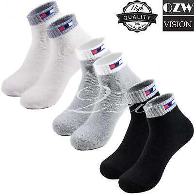 New Lot 3-12 Pairs Mens Ankle Quarter Crew Sports Socks Cotton Low Cut Size 9-13