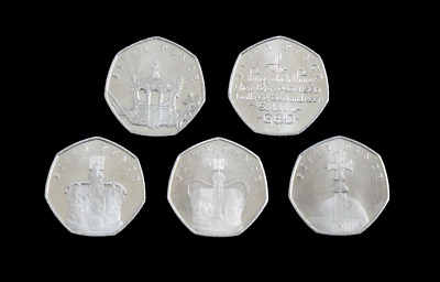 Isle of Man 50p Sapphire Jubilee 2018 5 Coin Set Choose Your Coin Fifty Pence