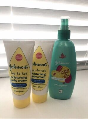 Johnsons Johnsons Kids 2x Too-to-toe Moisturising Baby Cream 1x No More Tangles