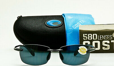c778dffa04 NEW COSTA DEL MAR BALLAST BA11 OGP Gloss Black Frame Grey 580P Polarized  Lens