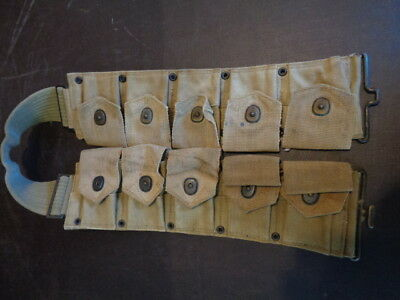 Original WW2 US Army/USMC MI Garand Ammo Belt