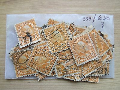 # 638 x 100 Used US Stamps Lot  James Garfield Issue  See our other lots
