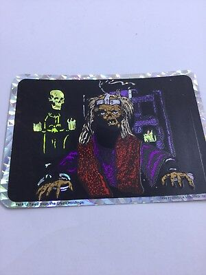 Tales From the Crypt 90s Decal Sticker Crypt Keeper Prism Sticker Electric Chair