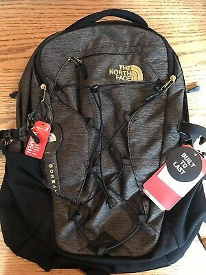52e7d8b8e0 Nwt Women's The North Face Borealis Backpack Black Brass Melange Luxe Free  Ship!
