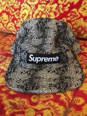 3e867804e08 Supreme NYC Nylon Soft Bill 5 Panel Snake Skin Camp Cap Alligator Hat  Snakeskin