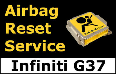 Infiniti G37: Airbag Module Reset Service, Control Unit, Computer, SRS, RCM,
