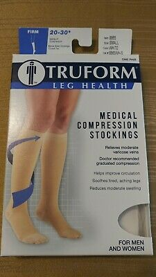 86755f1dd TRUFORM medical compression stockings 20-30 Below knee small 8865 white