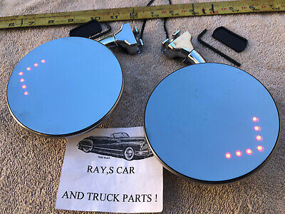 New Set Of Convex ( L.e.d ) Classic Style Door Peep Mirrors Built In Turn Arrows