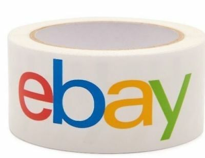 """Single Roll 2"""" x 75 yards Classic Official eBay Branded Packaging Tape Brand New"""