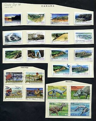 Lot of 77 Early (1992-1993) Canada Collection of Stamps