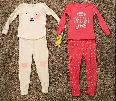 2017d0e31 Carter's 4 Piece Pajama Set- Daddy's Dream Girl- Pink-Toddler Girl Size 2T