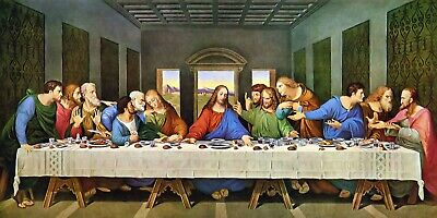 The Last Supper Leonardo da Vinci POSTER 24 X 36 INCH Catholic,acts,saints,Jesus