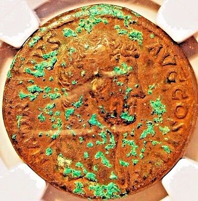 117-138 AD,Roman Empire Sesterius AE.NGC VF Rare .  Hadrian and Hispania  ,