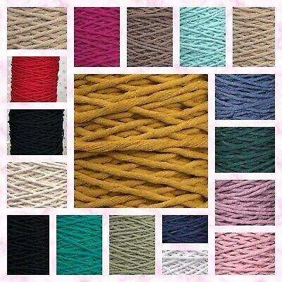 4mm Single Twisted Pipping Cotton Cord String Rope Craft Macrame DIY Home