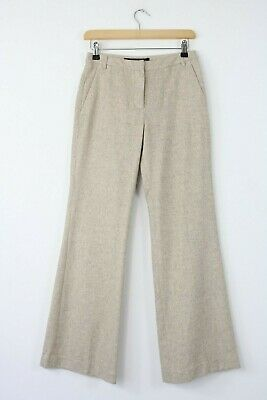 French Connection FCUK womens black /& blue fitted wetlook trousers size 8 7416E