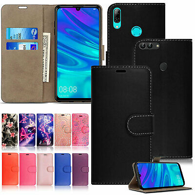 For Huawei P Smart 2019 Case PU Leather Stand Wallet Flip Phone Cover Enjoy 7S