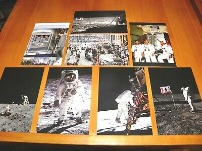 Lot of 8 Postcards Apollo 11 Moon Landing NASA Armstrong Aldrin etc. - Postcards