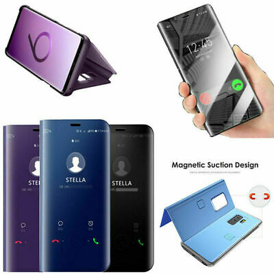 Smart View Mirror Leather Flip Stand Case Cover For Huawei P20 Lite Mate P30 Pro