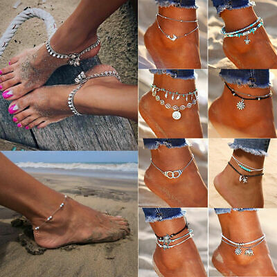 35 Styles Women Ankle Bracelet Anklet Foot Jewelry Chain Beach Love Heart Gifts