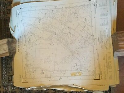 Large Roll Of Old Maps. Vintage Job Lots & Lots. Ordinance Survey #8