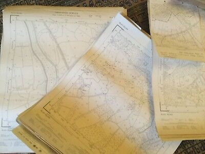 Large Roll Of Old Maps. Vintage Job Lots & Lots. Ordinance Survey #9