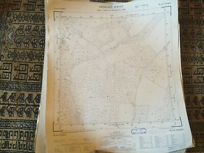 Large Roll Of Old Maps. Vintage Job Lots & Lots. Ordinance Survey #3