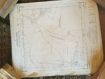 Large Roll Of Old Maps. Vintage. Job Lots & Lots. Ordinance Survey #7
