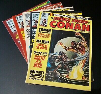 The Savage Sword of Conan Marvel 1979-1980