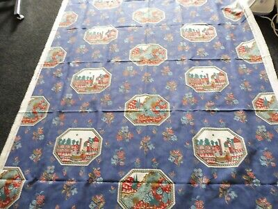 The Design Archives Mandal Fabric - Blue