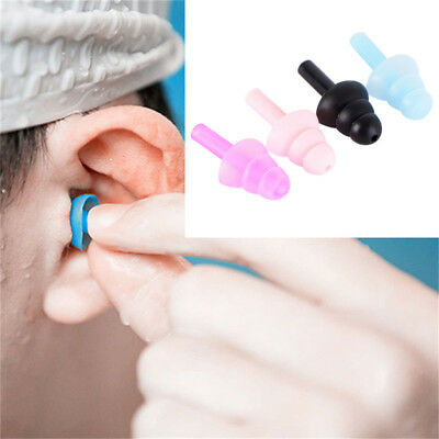 4Pcs For Study Sleep Silicone Ear Plugs Anti Noise Snore Earplugs Comfortable Dh