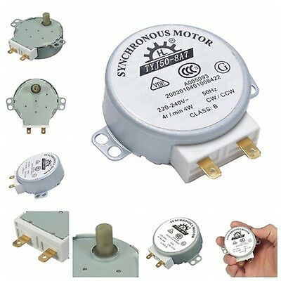 CW/CCW Miniwave Turntable Turn Table Synchronous Motor TYJ50-8A7D Shaft 4RPM Dh