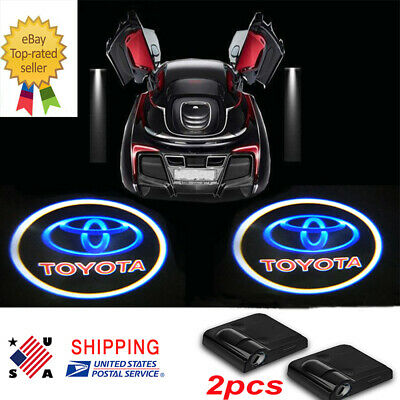 2x Toyota Universal Ghost Shadow Projector Logo LED Light Courtesy Door Step