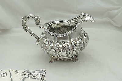 Rare Irish George Iv Hm Sterling Silver Cream Jug 1829
