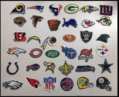 NFL 32 Teams Logo Patch embroidered iron and 4pcs free NFL Patch Lot 36PCS