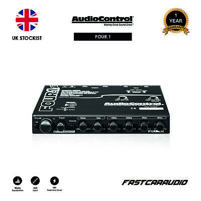 AudioControl Four.1i - In-Dash Car Audio Equalizer with Auxiliary Input
