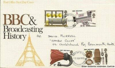 GB 1972  Broadcasting Anniversaries. First Day Cover