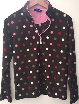 Girls Brown Spotty Fleece Jumper Age 13 Peter Storm<NH7950