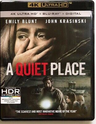 A Quiet Place 4K Ultra Hd Blu Ray 2 Disc Set Free World Wide Shipping Horror
