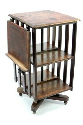 Antique Oak Revolving Bookcase - FREE Shipping [5081]
