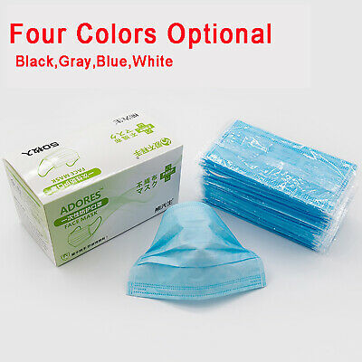 50pcs Dust Allergy Flu Disposable Masks Face Mouth Protection Breathable Mask