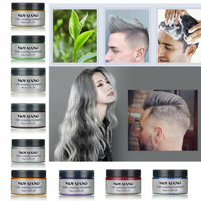 9 Colors MOFAJANG Unisex DIY Hair Color Wax Mud Dye Styling Disposable DIY 120g