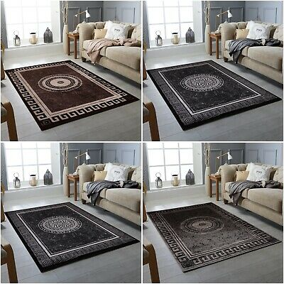 Black Grey Silver Small Ex Large Big Huge Size Floor Carpet Area Rug Mat Cheap