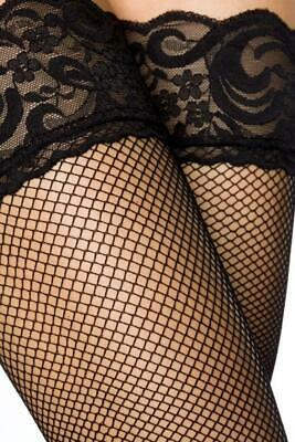 VARIOUS Netz-Stockings mit Naht (11264-002)