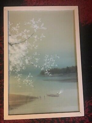 Vintage Japanese Watercolour Painting Signed KYOHA