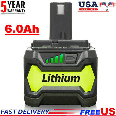 New 6.0Ah 18Volt P108 For Ryobi P104 Plus Lithium-Ion P109 High Capacity Battery