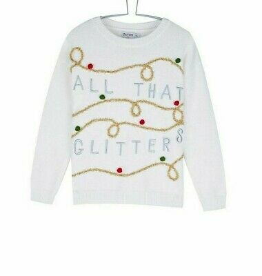 Outfit Girls White Charity Christmas Jumper Size 5 Years VR139 08